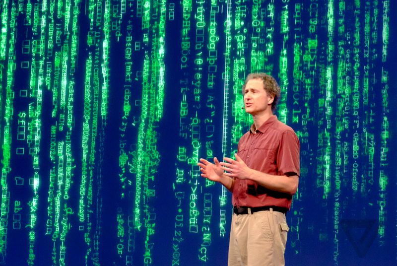 Oculus VR's chief scientist delivered a monologue from The Matrix at F8