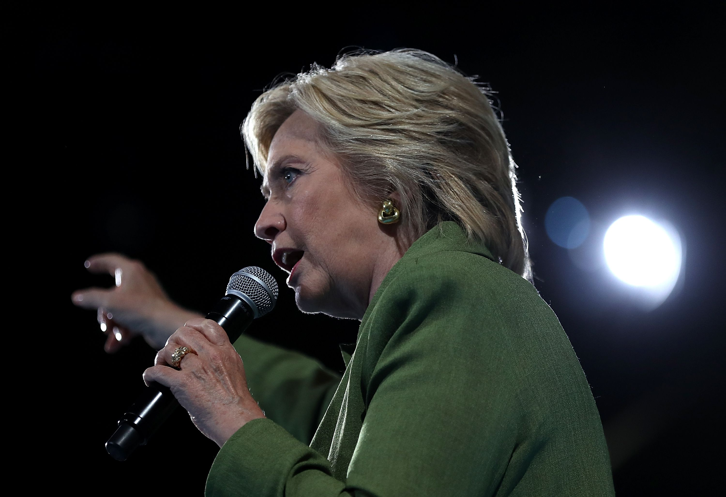 Democratic Presidential Candidate Hillary Clinton Holds Campaign Events In Florida
