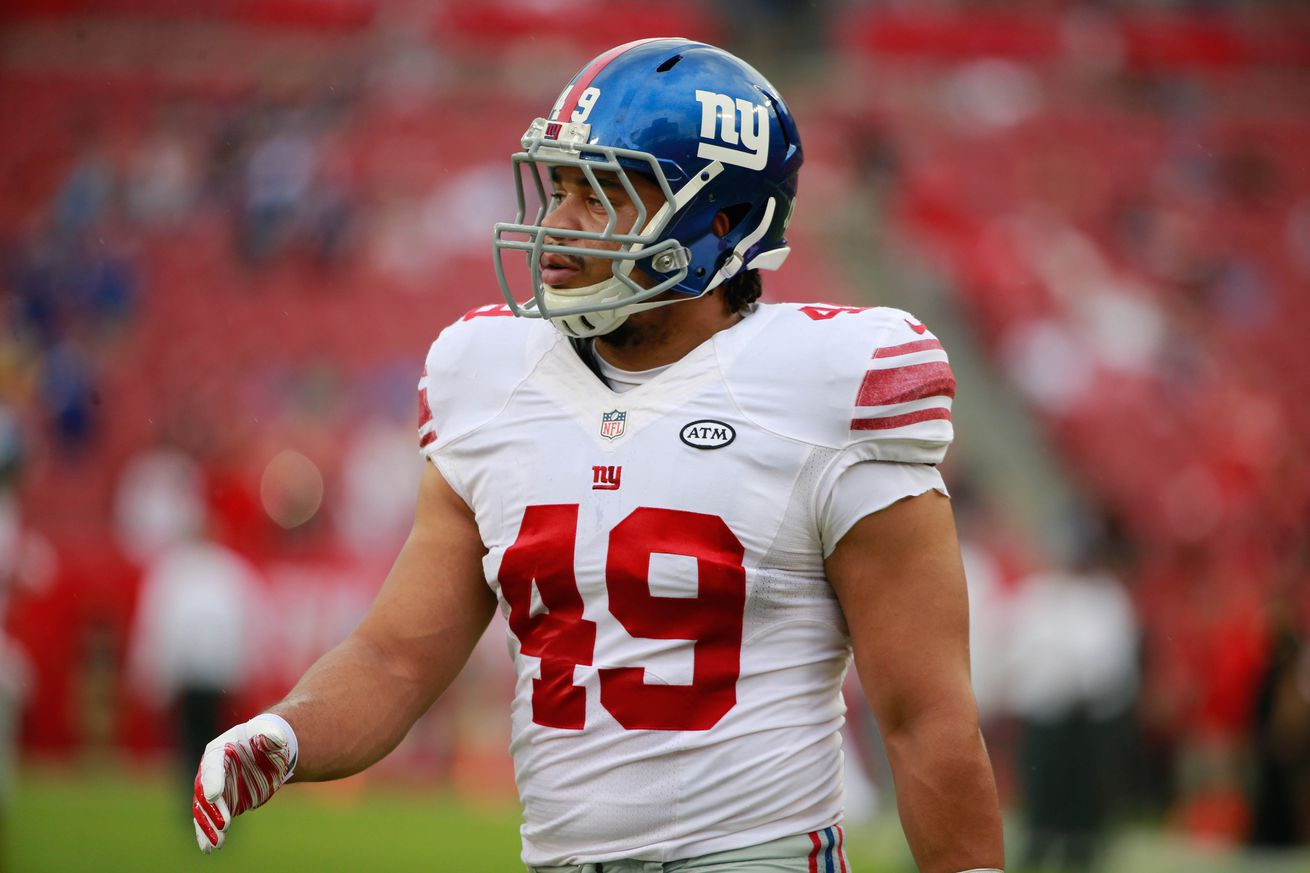 Giants make 4 roster moves, 2 cut, 2 waived injury