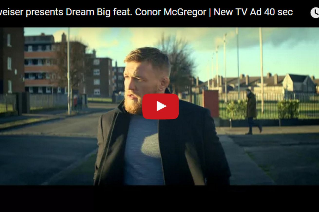 community news, Video: Watch the Conor McGregor Budweiser ad banned for promoting underage drinking