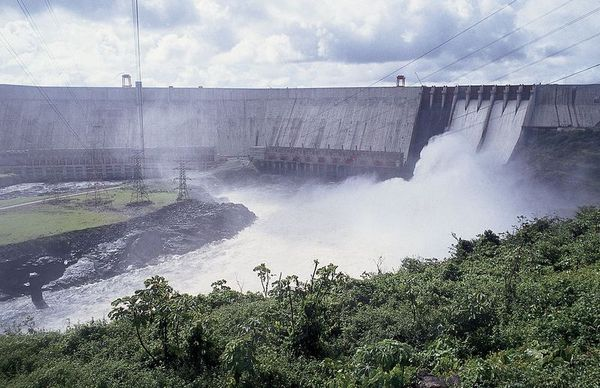 The Guri Dam in the state of Bolívar, Venezuela.