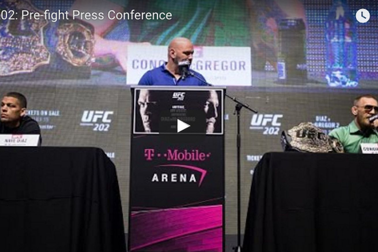 community news, Live! Watch UFC 202 pre fight press conference for McGregor vs Diaz 2