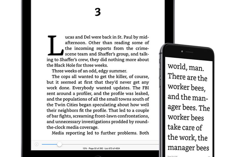 Amazon improves typeface and layout on Kindle for iPhone