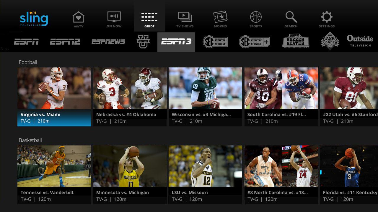 Sling TV gets a new look and adds ESPN3 to its channel ...
