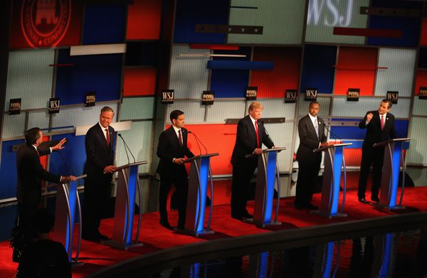 The candidates, candidating.