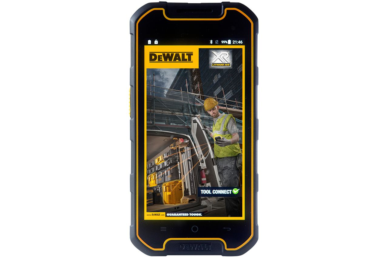 Dewalt S First Smartphone Looks Like The Love Child Of An