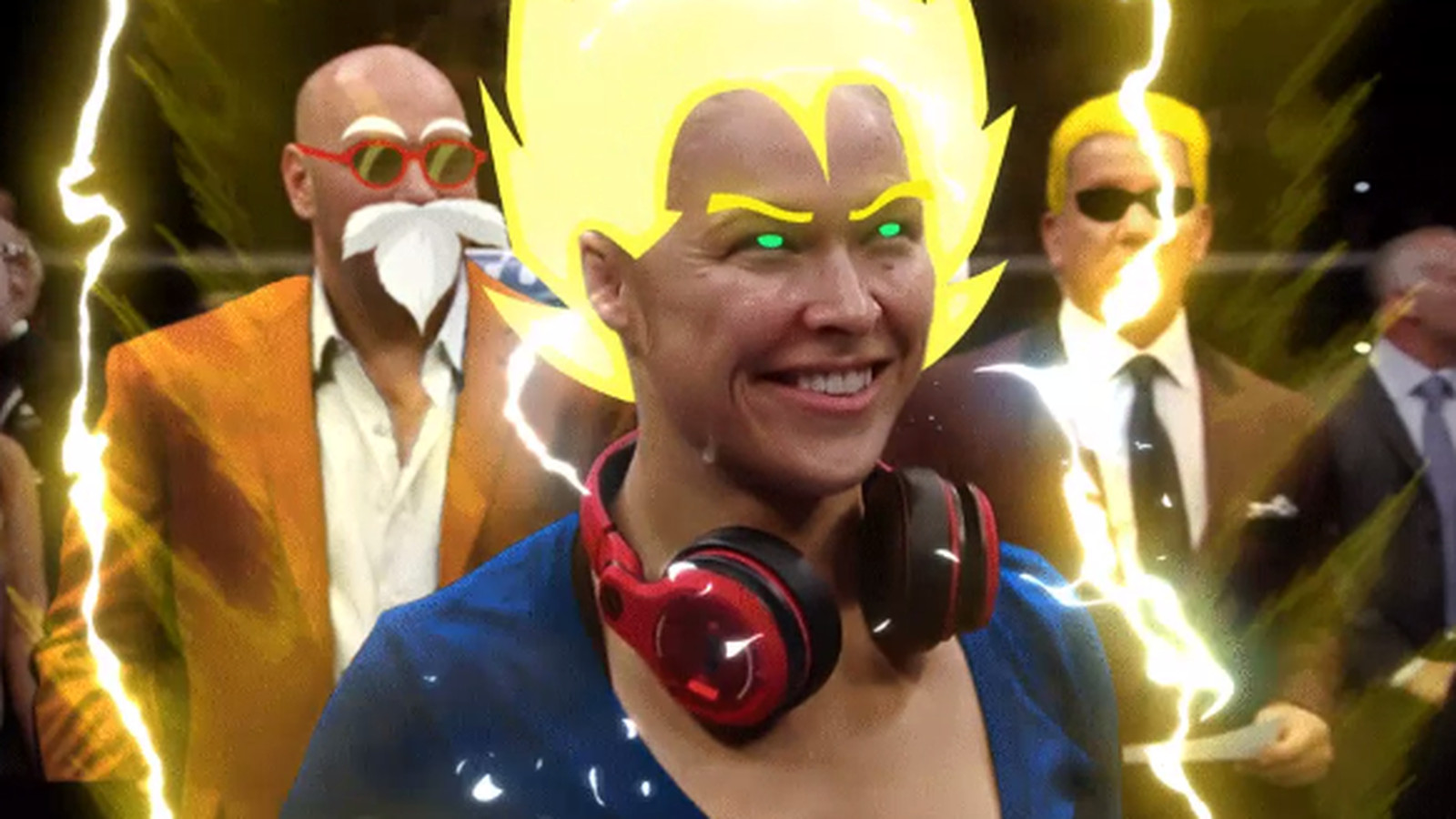 An Internet genius made this GIF of Ronda Rousey going Super Saiyan ... Running Horse Png