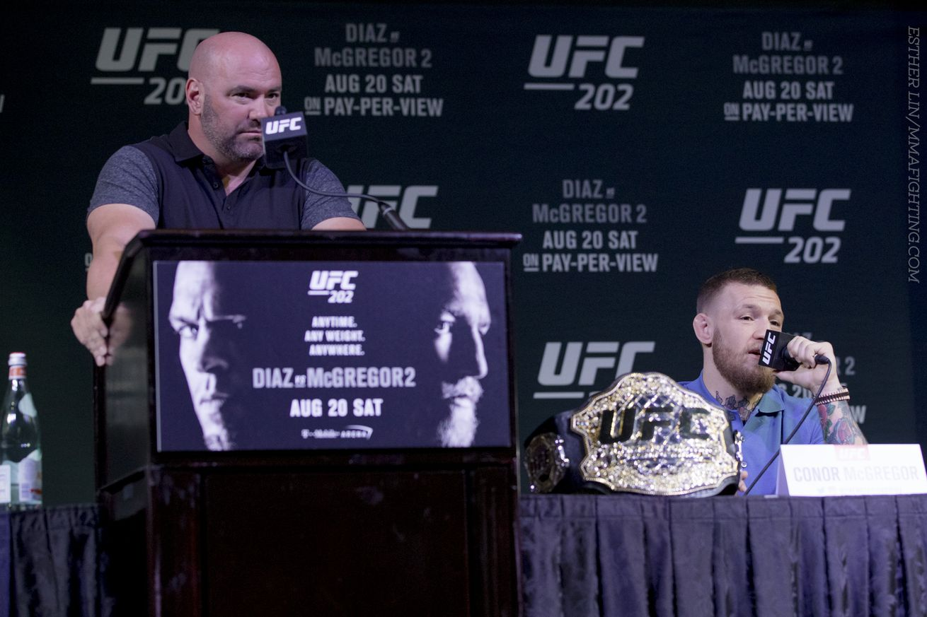 Dana White explains why he started UFC 202 press conference without Conor McGregor