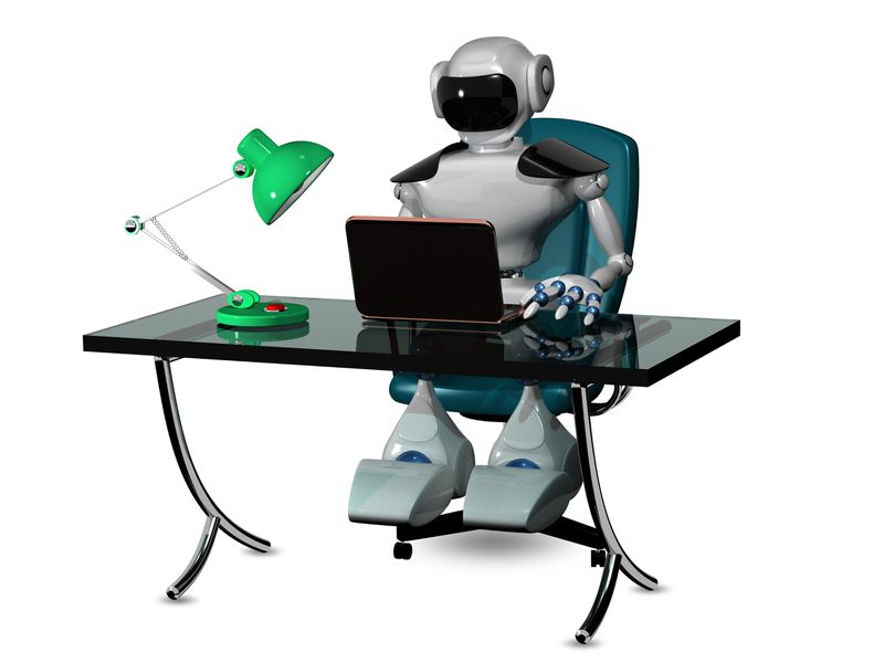ROBOT ON KEYBOARD SHUTTERSTOCK