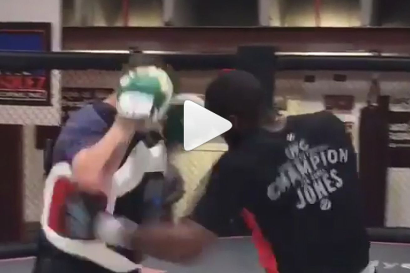 Video: Jon Jones immediately returns to the gym, sparring partner suffers the consequences