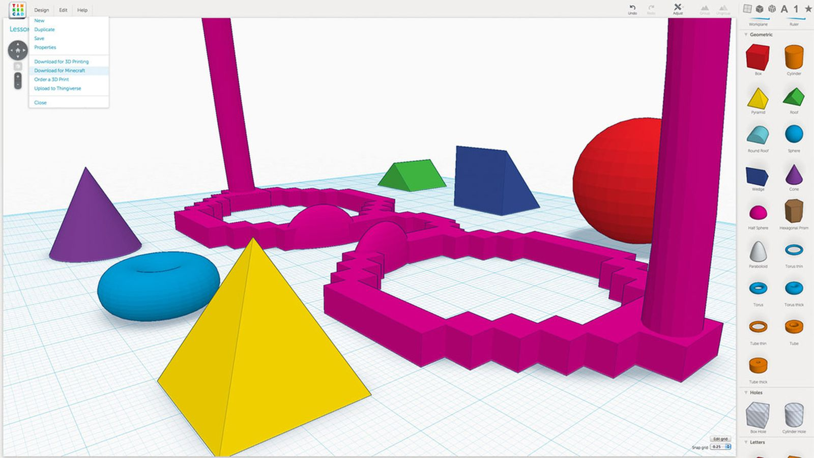 Free 3d design app tinkercad adds fast simple minecraft for 3d design app