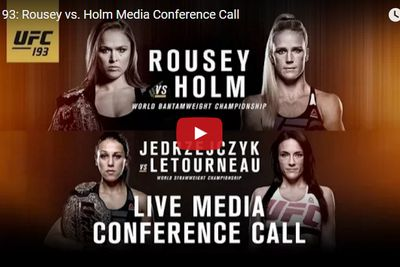 community news, Live stream: UFC 193 media conference call audio for Rousey vs Holm