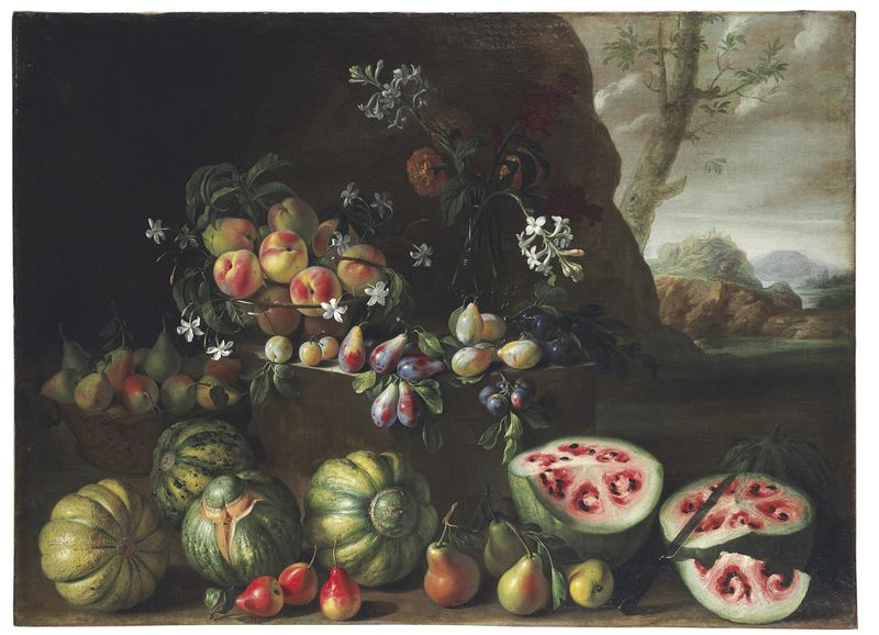 Giovanni Stanchi's painting from the 17th century shows how much watermelon has changed.
