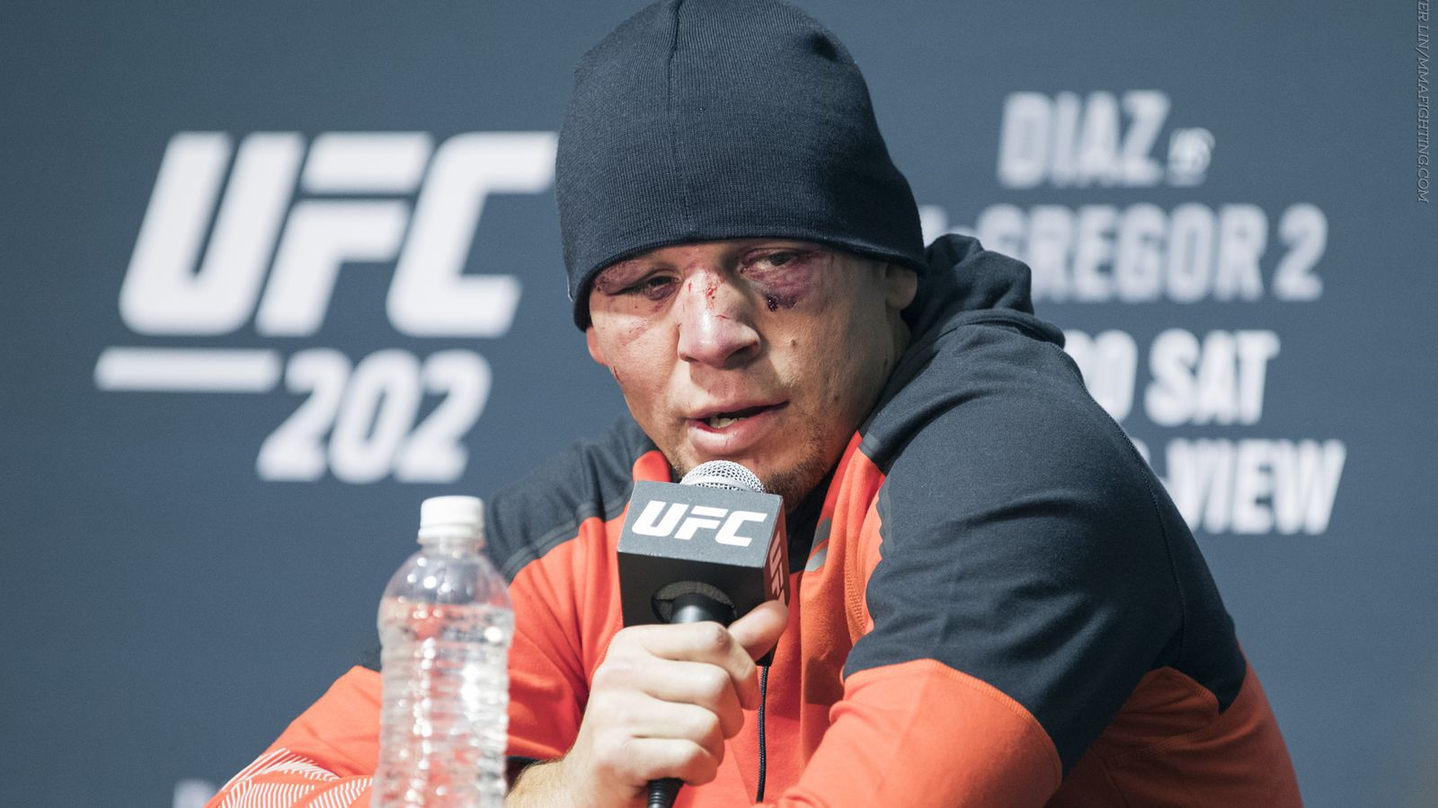 Nate Diaz UFC 202 post-fight press conference video - MMA ...