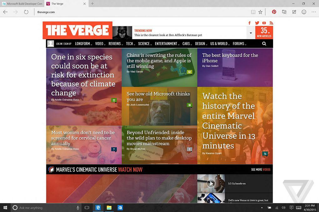 Microsoft Edge extensions