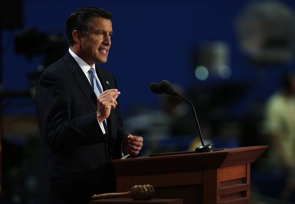 Sandoval addresses the Republican National Convention in 2012.