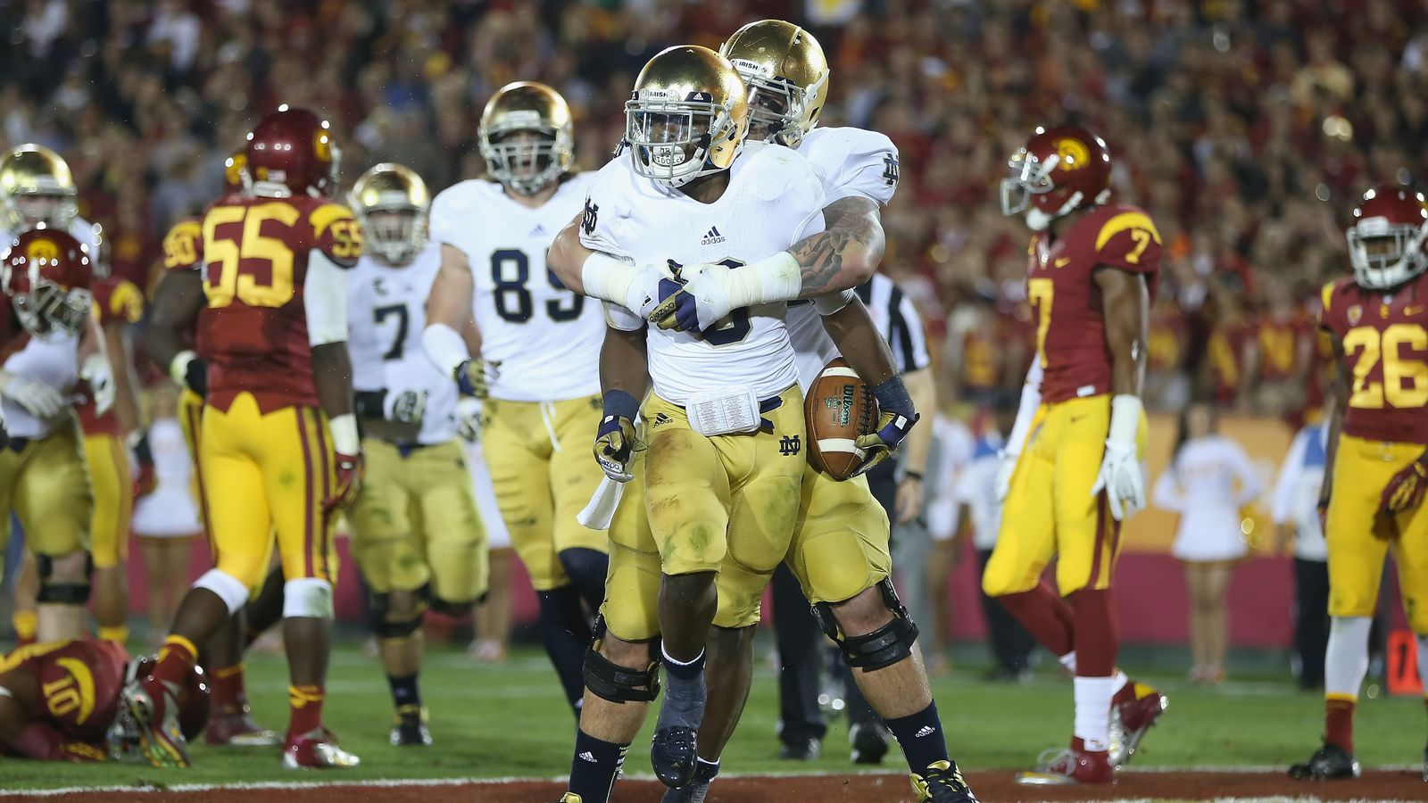 what is the score of the notre dame game highest college football score