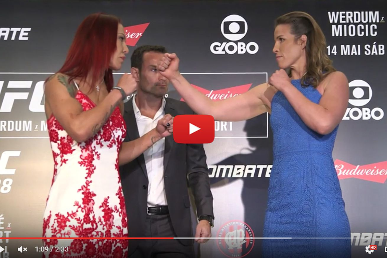 community news, UFC 198 staredown video featuring Cyborg vs Smith, Werdum vs Miocic, and more!