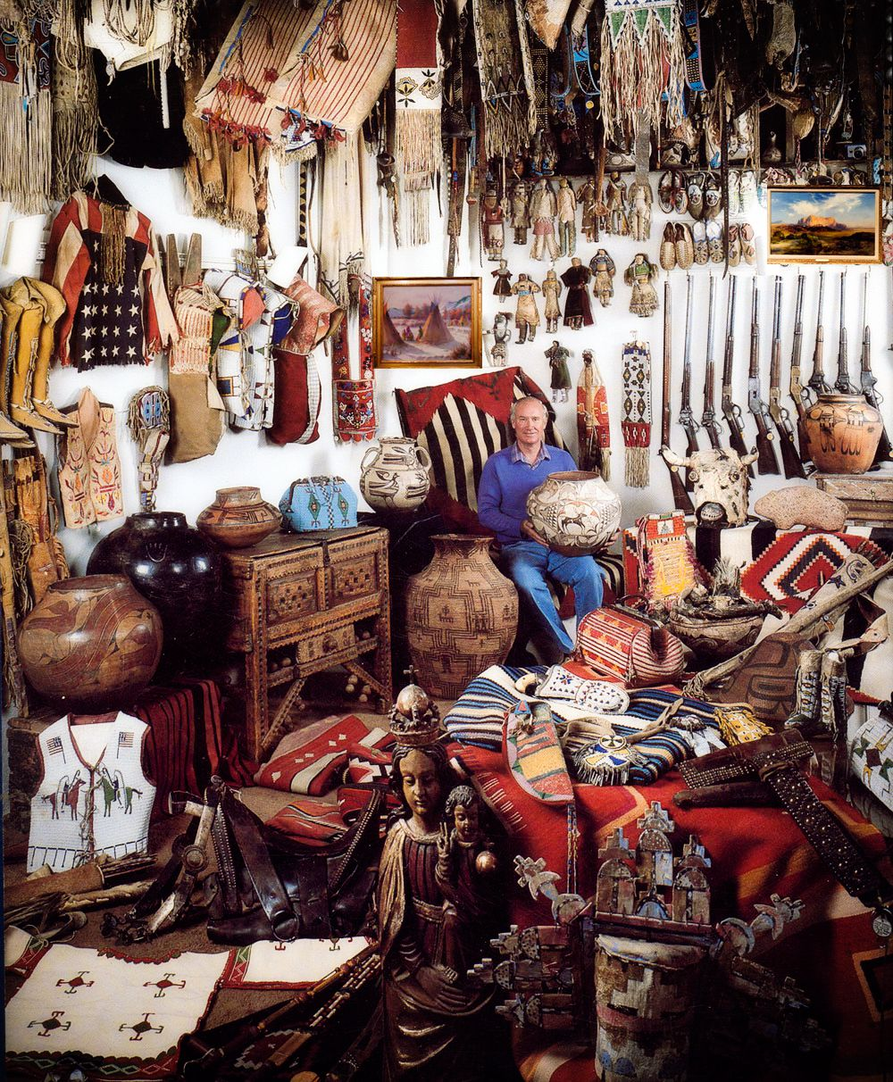 in search of forrest fenn s treasure forrest fenn sitting in a room a collection of artifacts