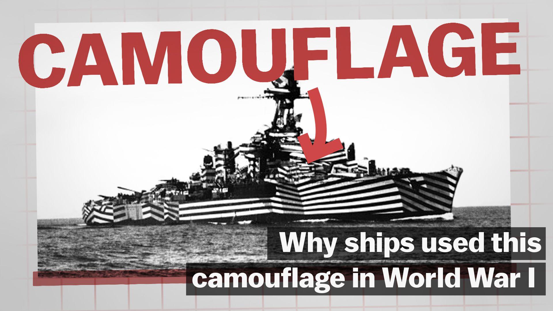 How dazzle camouflage kept ships safe during World War I - Vox
