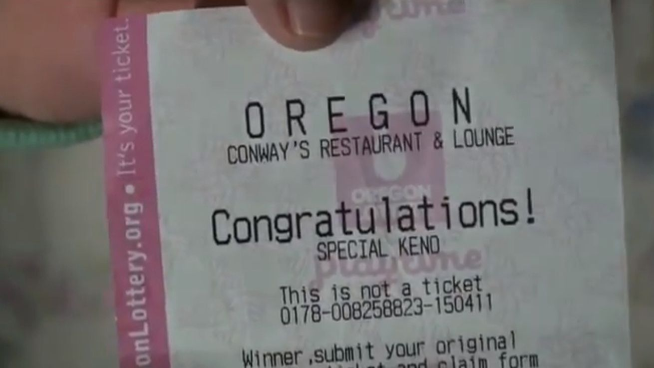Bartender tip keno ticket