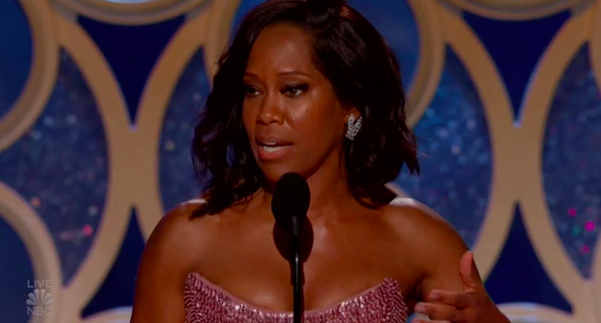Golden Globes: Regina King pledges every project she produces will involve 50 percent women