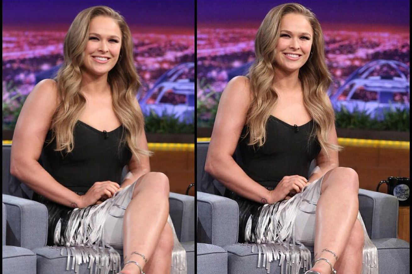 community news, Pic: Ronda Rousey appalled by photoshop image, apologizes for peddling shrunken arms