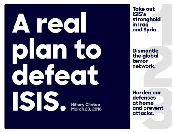 Note: not actually a plan to end ISIS.