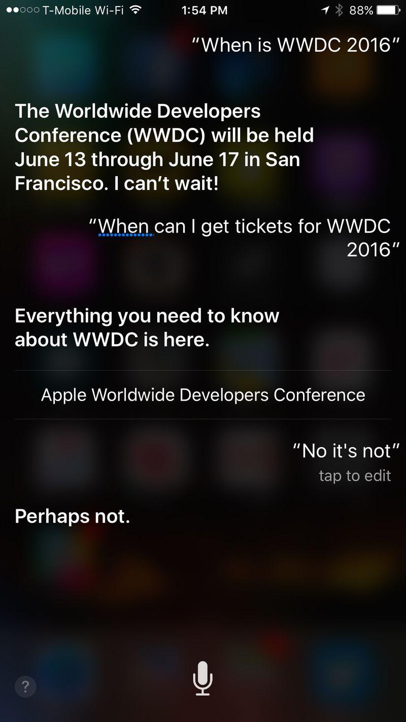 Siri WWDC 2016 fecha anunciada-noticias-Ross Miller / pantalla