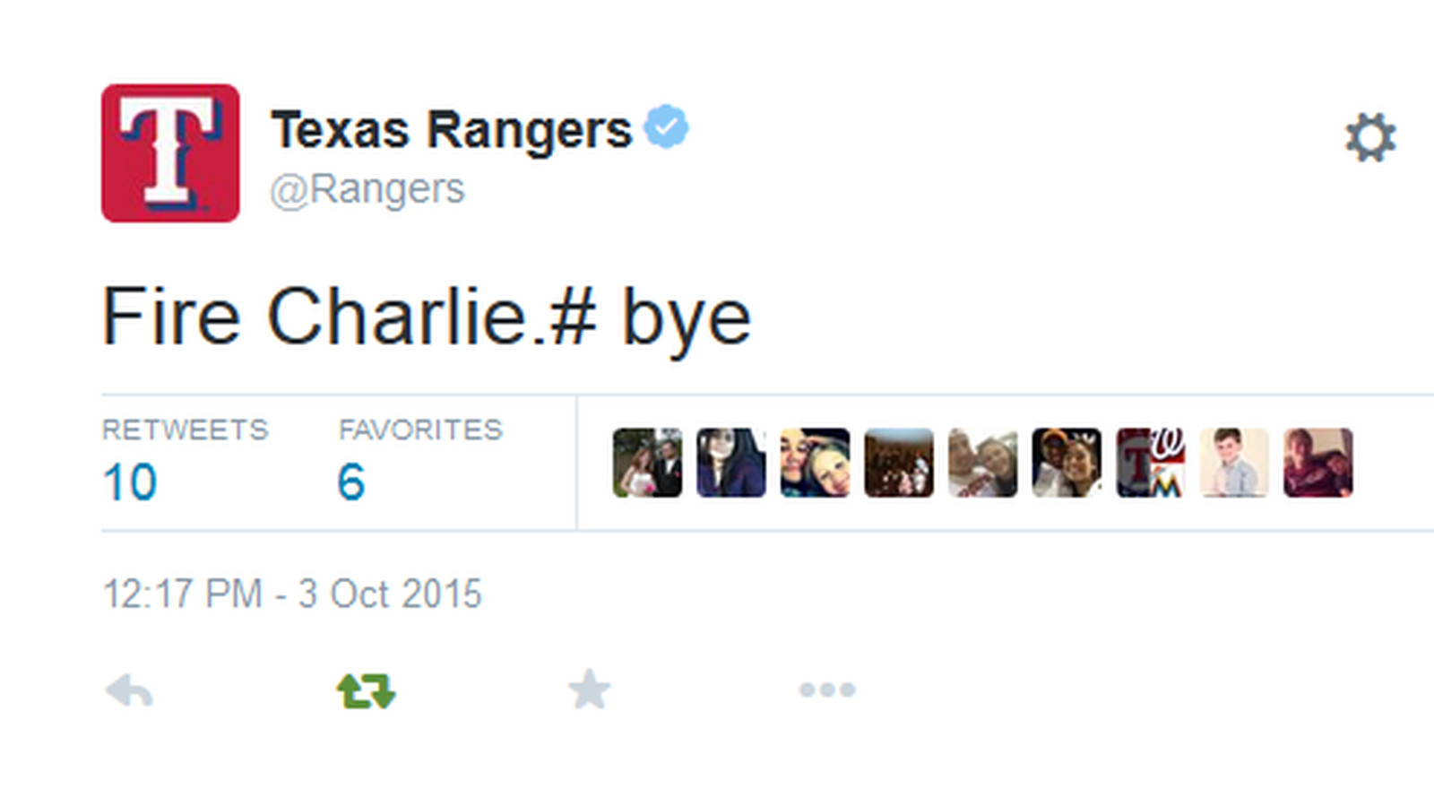 Texas Rangers Twitter Account Accidentally Calls For
