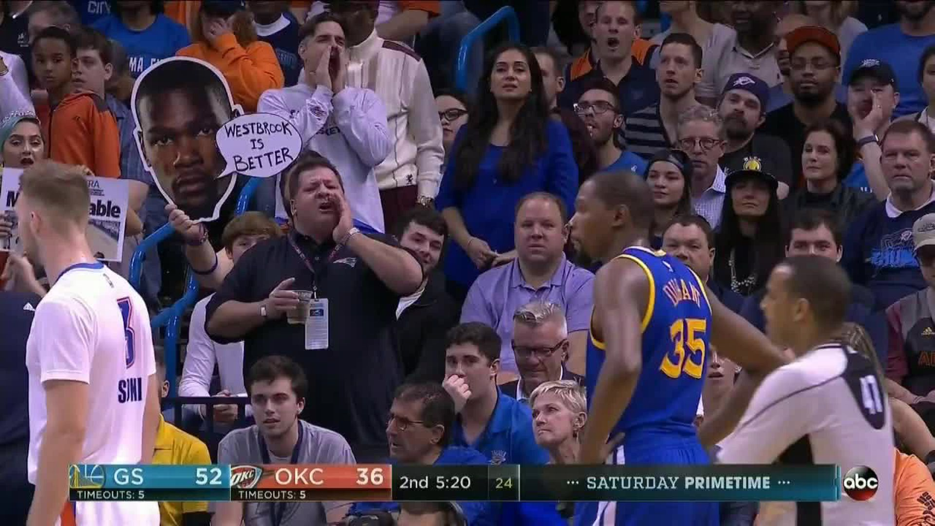 Thunder fans are chanting 'Cupcake' at Kevin Durant. Here's why.