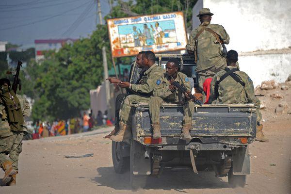 Somali troops in 2015.