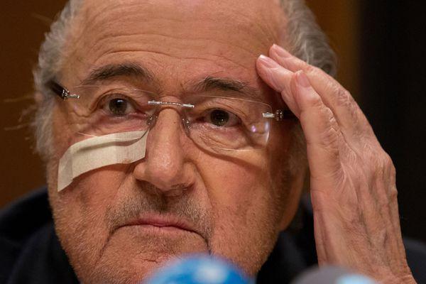 Sepp Blatter after hearing the news.