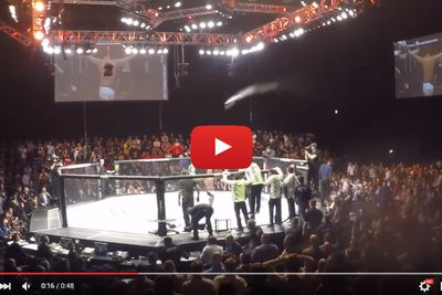 community news, Video: Irish fans launch beer at Louis Smolka after UFC Dublin submission win