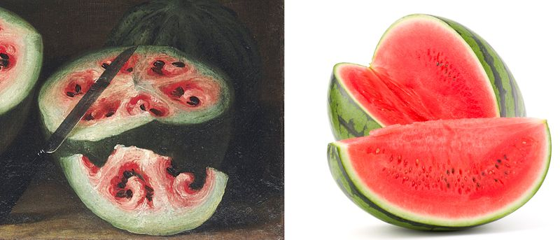The watermelon, then and now.