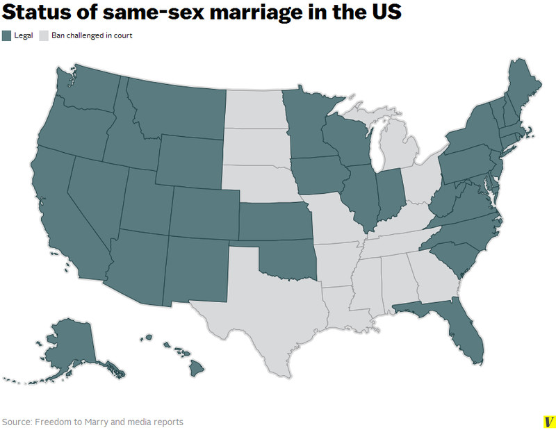 States Allowing Same Sex Marriages 7