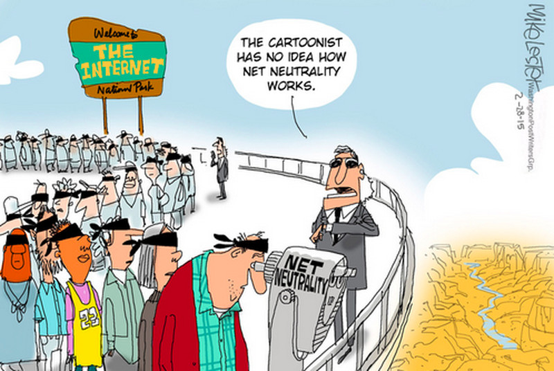 Political cartoonists need to do some serious research on net neutrality