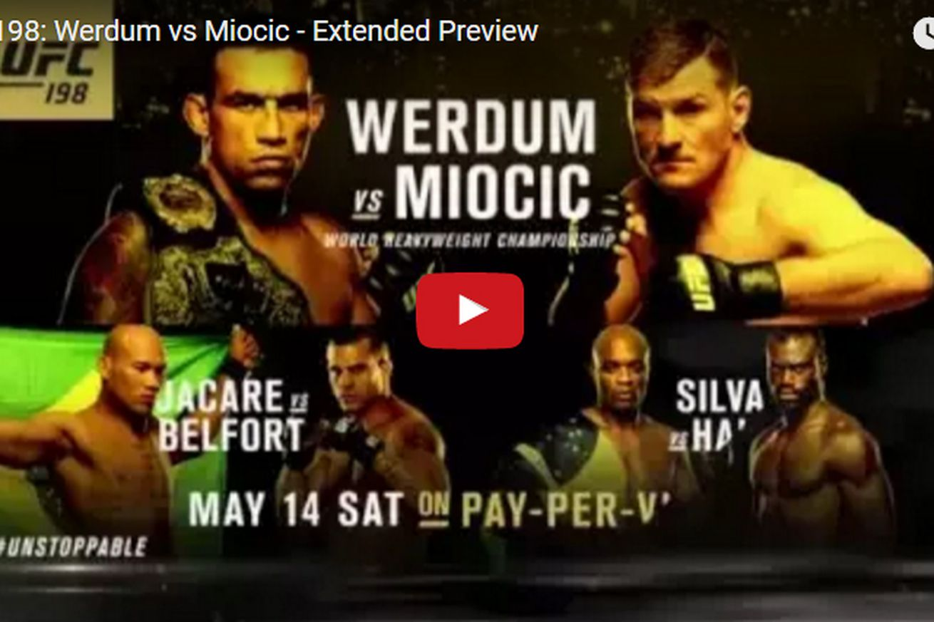 UFC 198 extended video preview for Werdum vs Miocic event on May 14 in Brazil