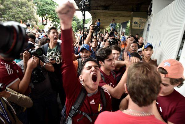 Anti-Maduro protesters, last Wednesday.