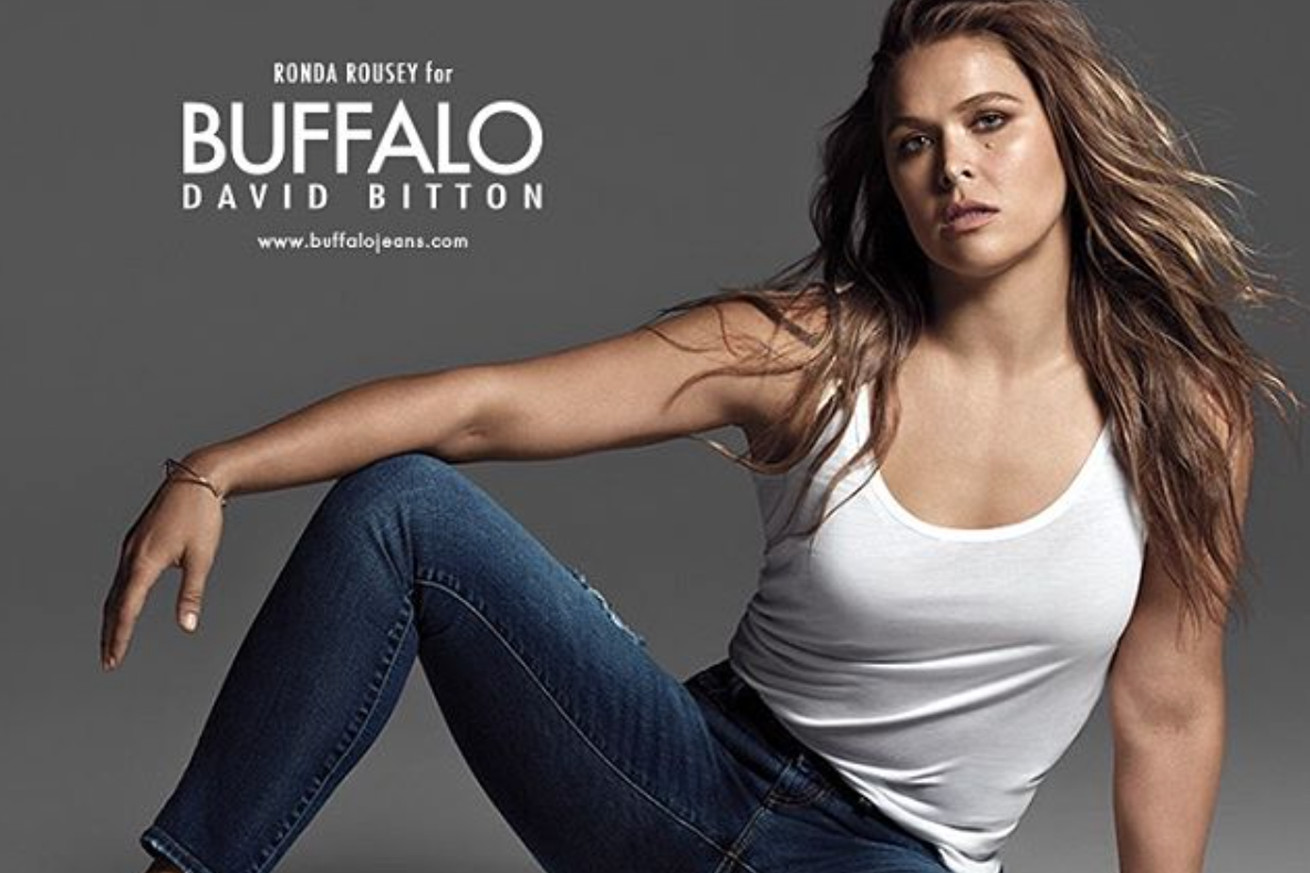 Video: Ronda Rousey a practical badass showing off killer curves for Buffalo ad