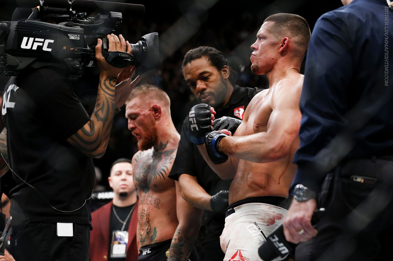 community news, Nate Diaz says he put a big old hole in plans for Georges St Pierre vs. Conor McGregor