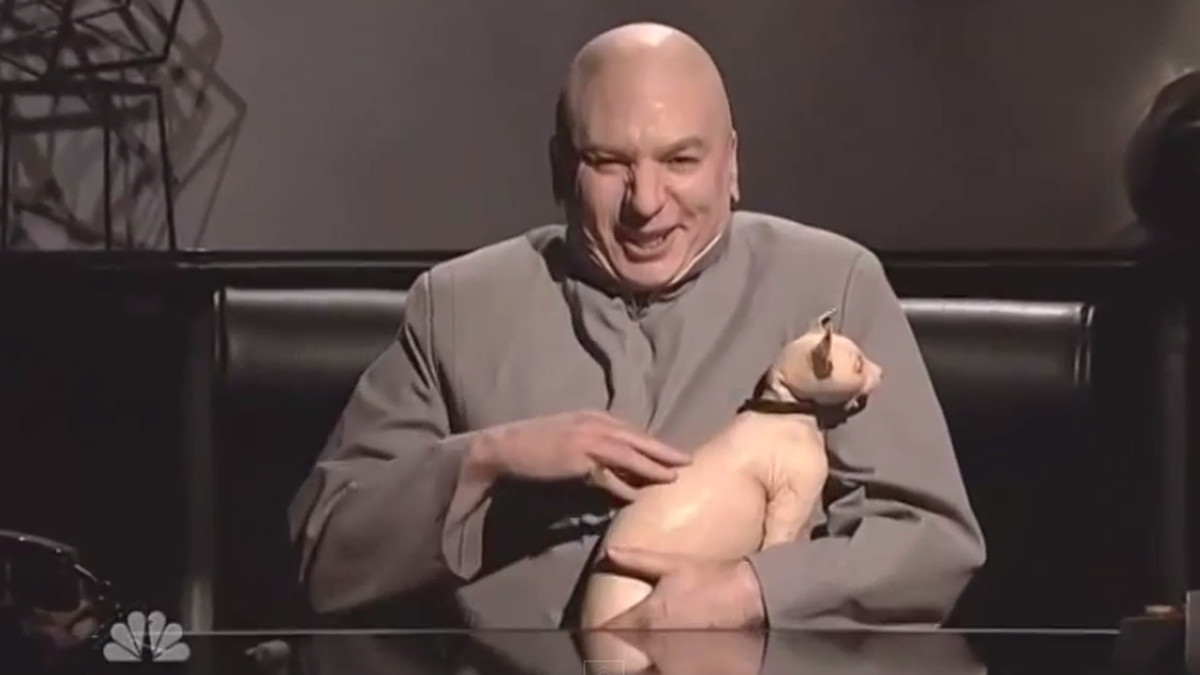 Watch Dr. Evil mock Sony Pictures and North Korea on SNL