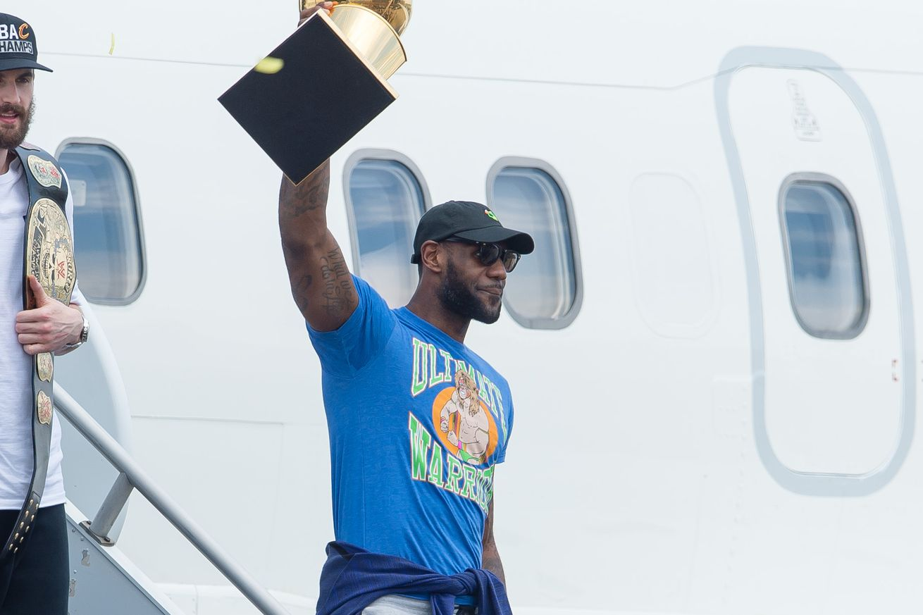 LeBron denies he donned Ultimate Warrior shirt to troll Golden State
