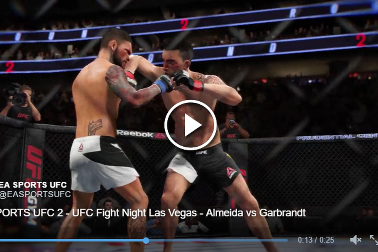 community news, Video: Thomas Almeida knocks out Cody Garbrandt in UFC Fight Night 88 simulation from EA Sports