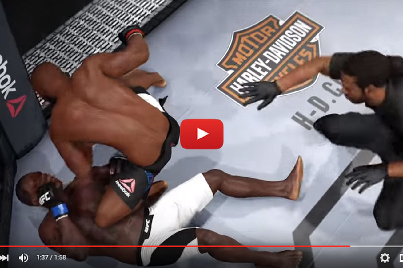 community news, Video: Watch Jon Jones knockout Ovince Saint Preux at UFC 197 in EA Sports UFC simulation