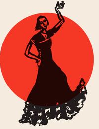 Illustration of a woman dancing.