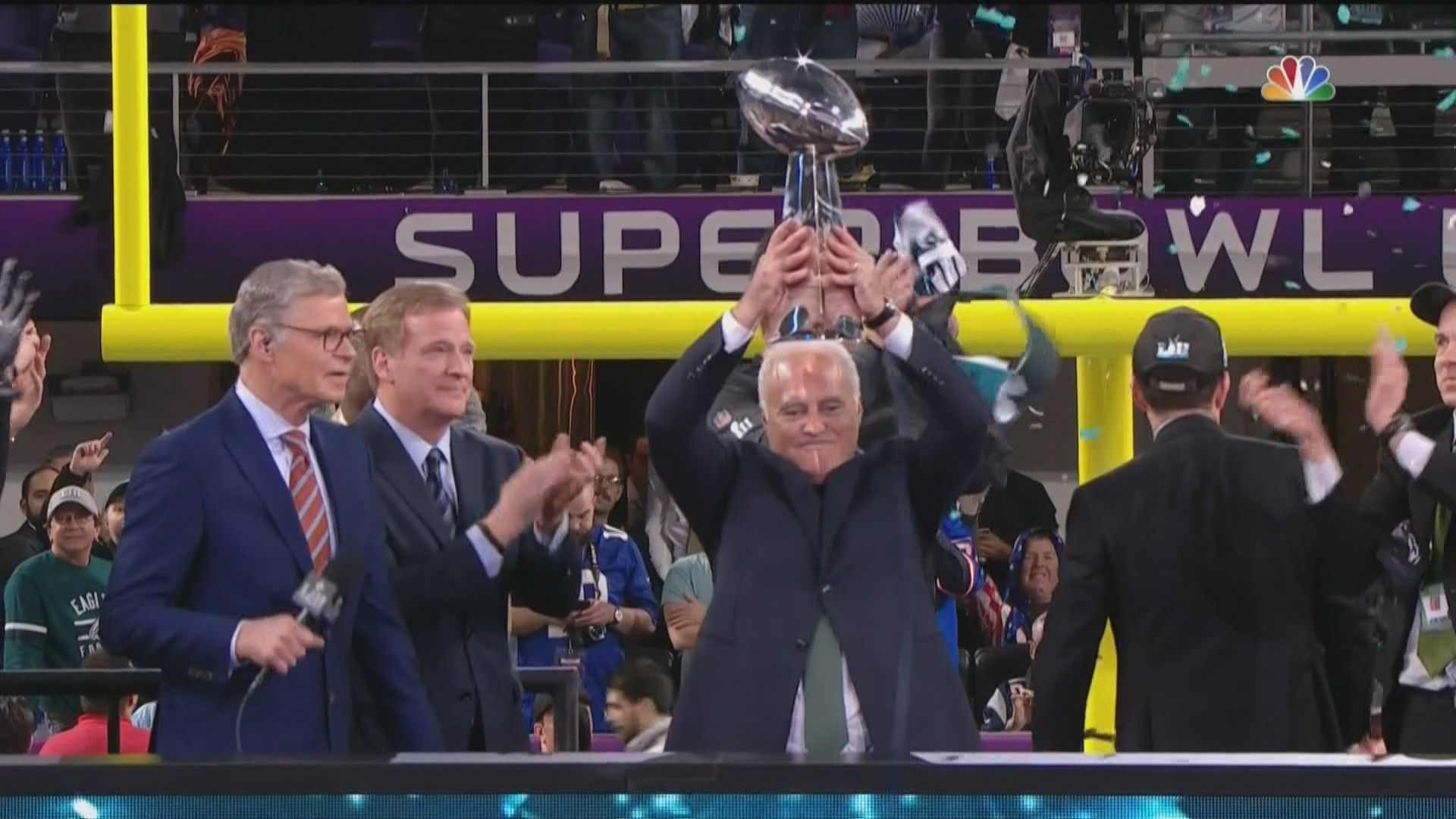Eagles Lombardi Trophy Presentation Watch Philadelphias Super Bowl Celebration