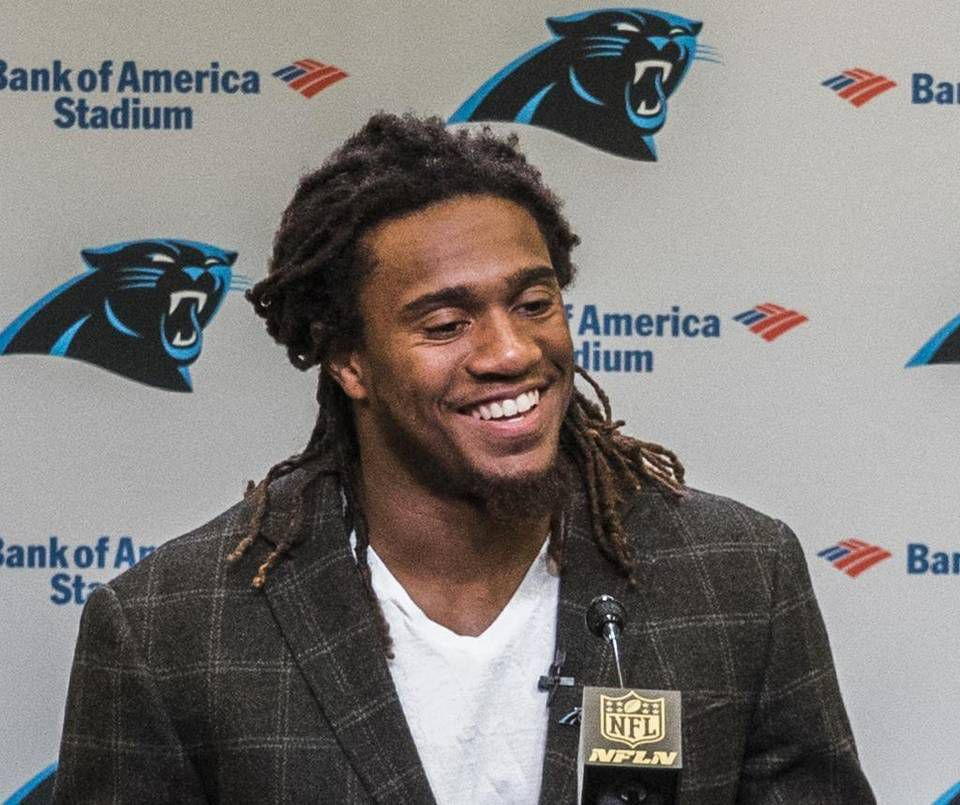2015 Draft Carolina Panthers 54 Shaq Thompson White Elite Jersey
