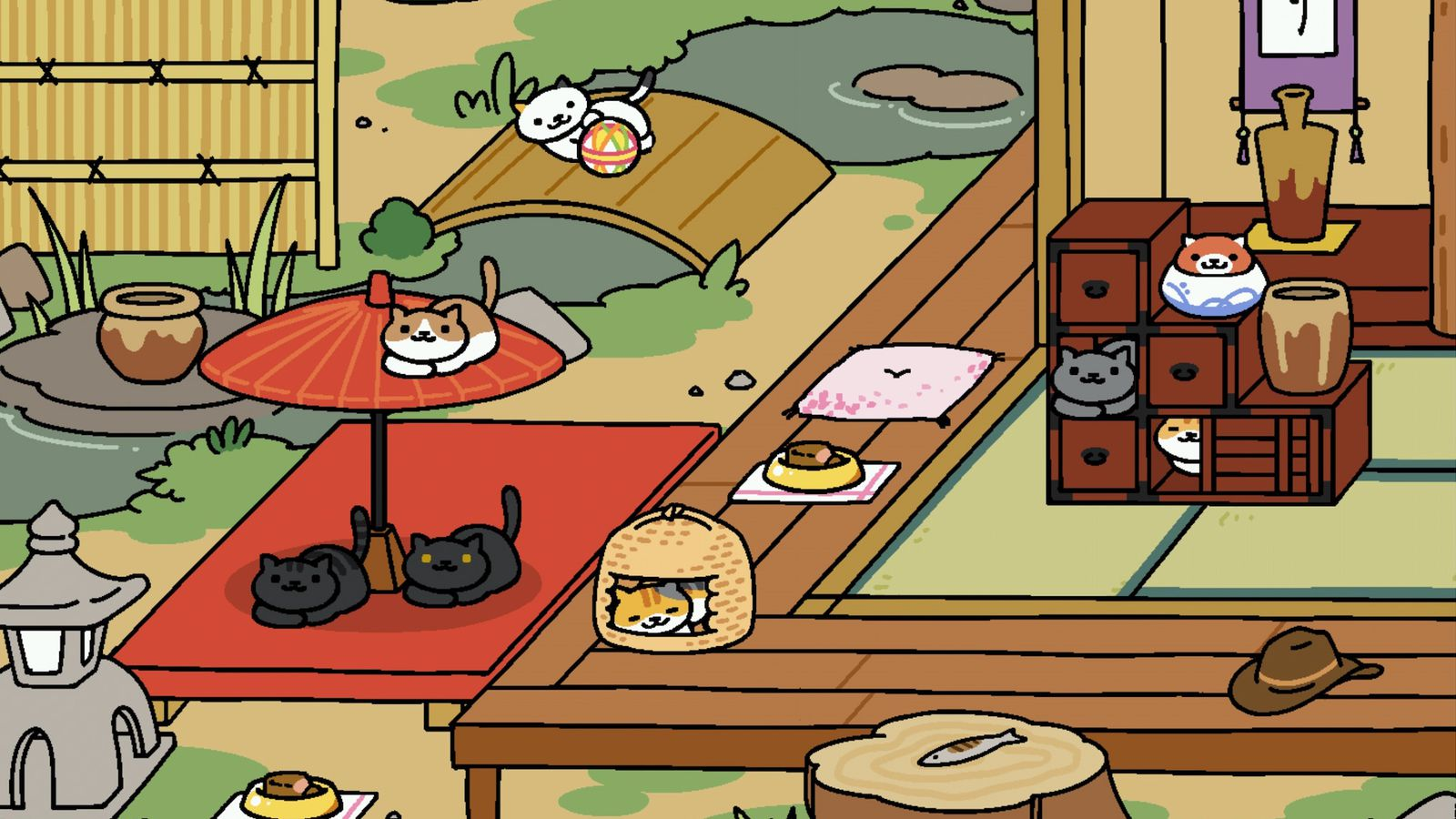 cute cult cat collecting app neko atsume is finally in english the verge. Black Bedroom Furniture Sets. Home Design Ideas