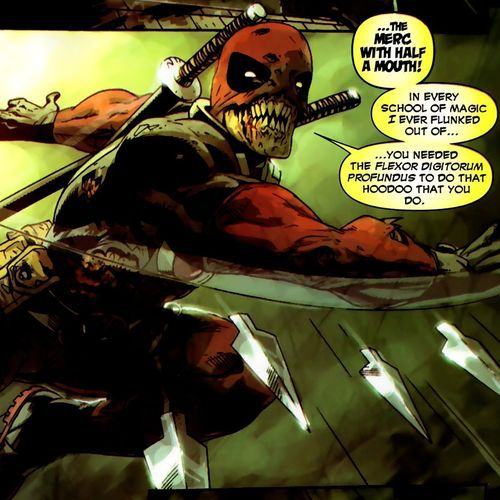 Deadpool Zombie matando todo en The Walking Dead. Mirá